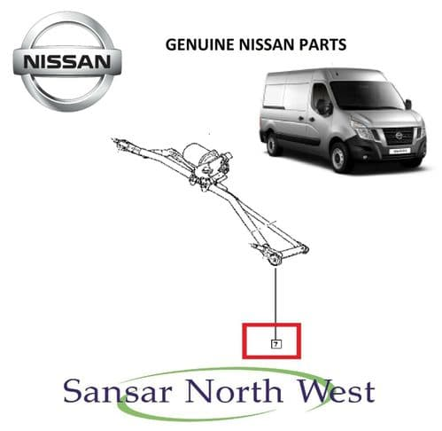 NEW Genuine - Front Wiper Motor & Linkage Mechanism RHD Only For Nissan NV400